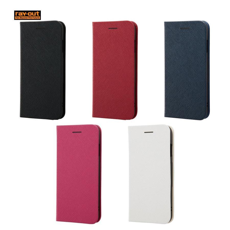 6ccfc7288e ray-out iPhone 8 手帳型ケース マグネットタイプ / ネイビー ...