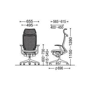 オフィスチェア オカムラ バロン EXハイバック固定ヘッドレストタイプ CP47DR CP47DW 固定肘 シルバーフレーム 座:クッション|soho-honpo|04