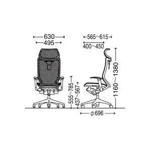 オフィスチェア オカムラ バロン EXハイバック可動ヘッドレストタイプ CP81AR CP81AW可動肘 ポリッシュフレーム 座:メッシュ soho-honpo 05