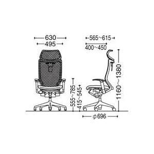 オフィスチェア オカムラ バロン EXハイバック可動ヘッドレストタイプ CP81DR CP81DW可動肘 シルバーフレーム 座:クッション soho-honpo 05