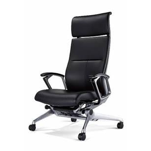 オフィスチェア オカムラ ラクソス キャスタータイプ シルバーフレーム CZ17CX-P676(レザー仕様) CZ17CX-P676(レザー仕様)