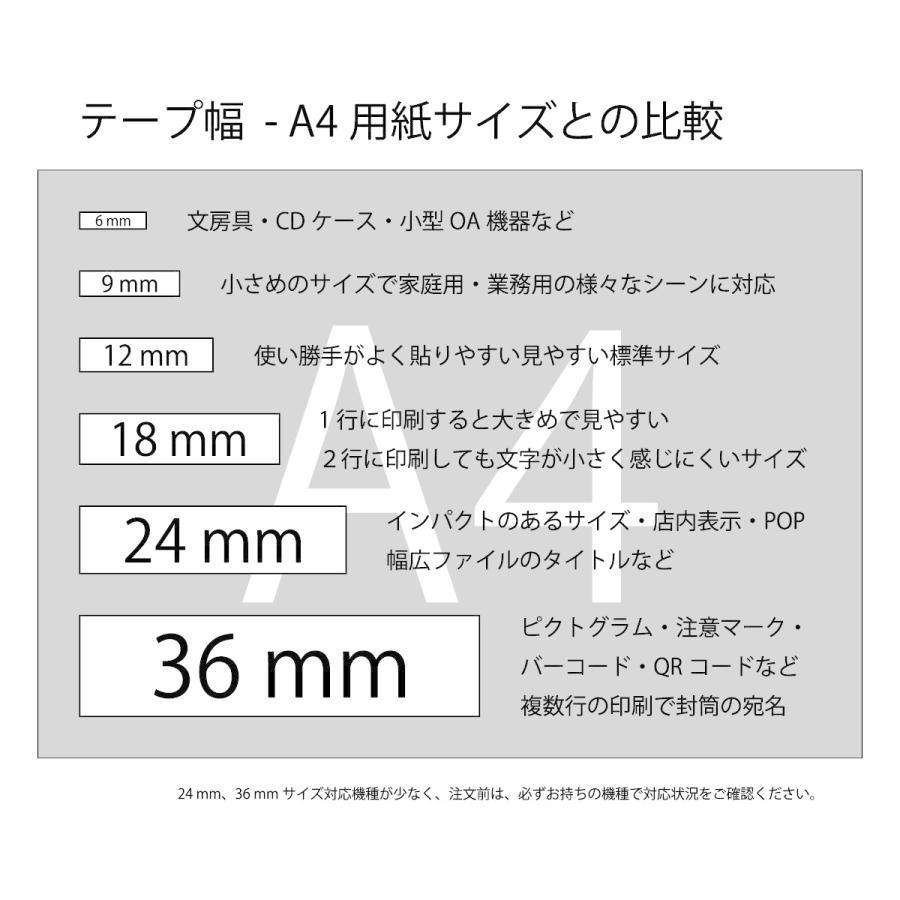 【永久保証】キングジム用 テプラPRO互換 テープ カートリッジ 36mm 白地黒文字 SH-KS36K (SS36K 互換)|soho-partner|03