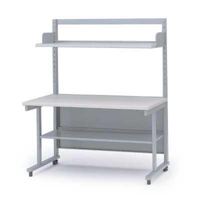 オフィスデスク イトーキ 上棚・中棚付OAテーブルW60(H121 棚板奥行D24タイプ) 自社便 開梱・設置付