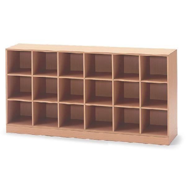 イトーキ 学校用木製収納 18ボックス 巾木タイプ 自社便 開梱・設置付