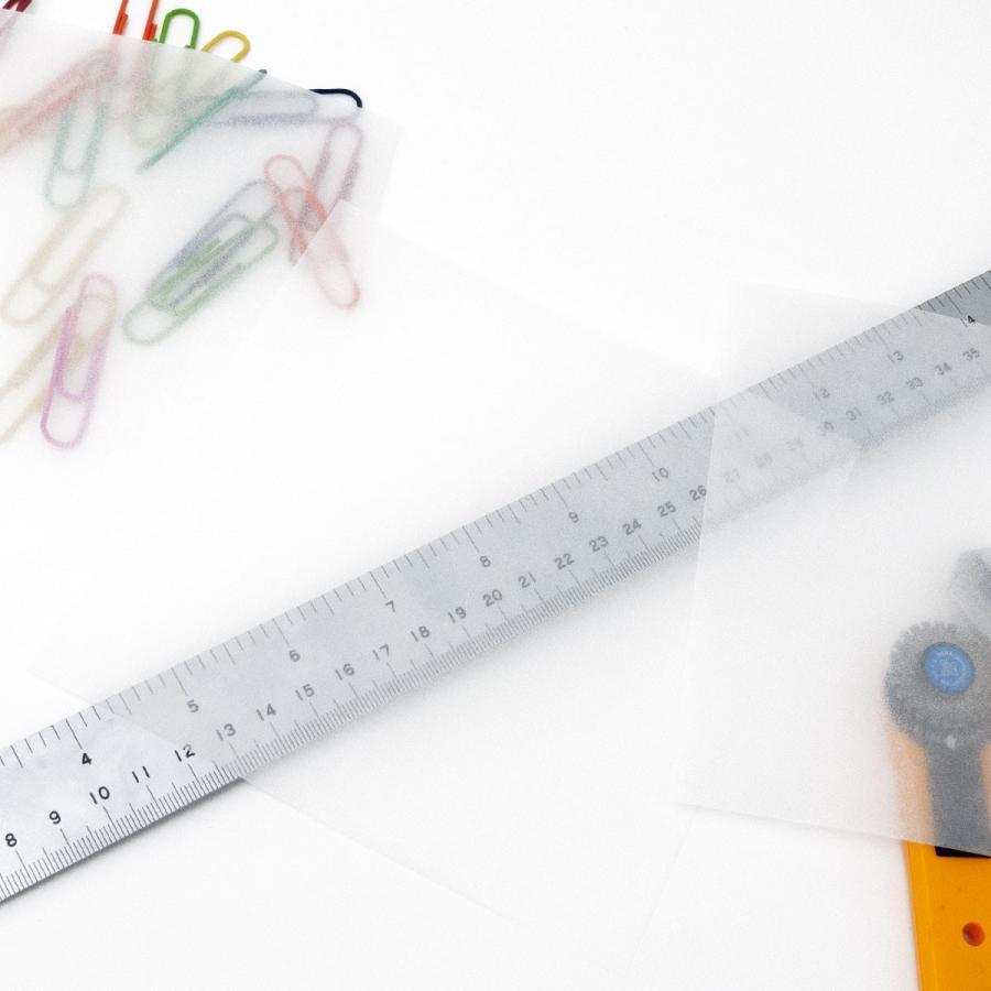 ミニ包装紙 グラシンペーパー白無地 50枚 折り紙サイズ 半透明ペーパークラフト紙|sokana|02