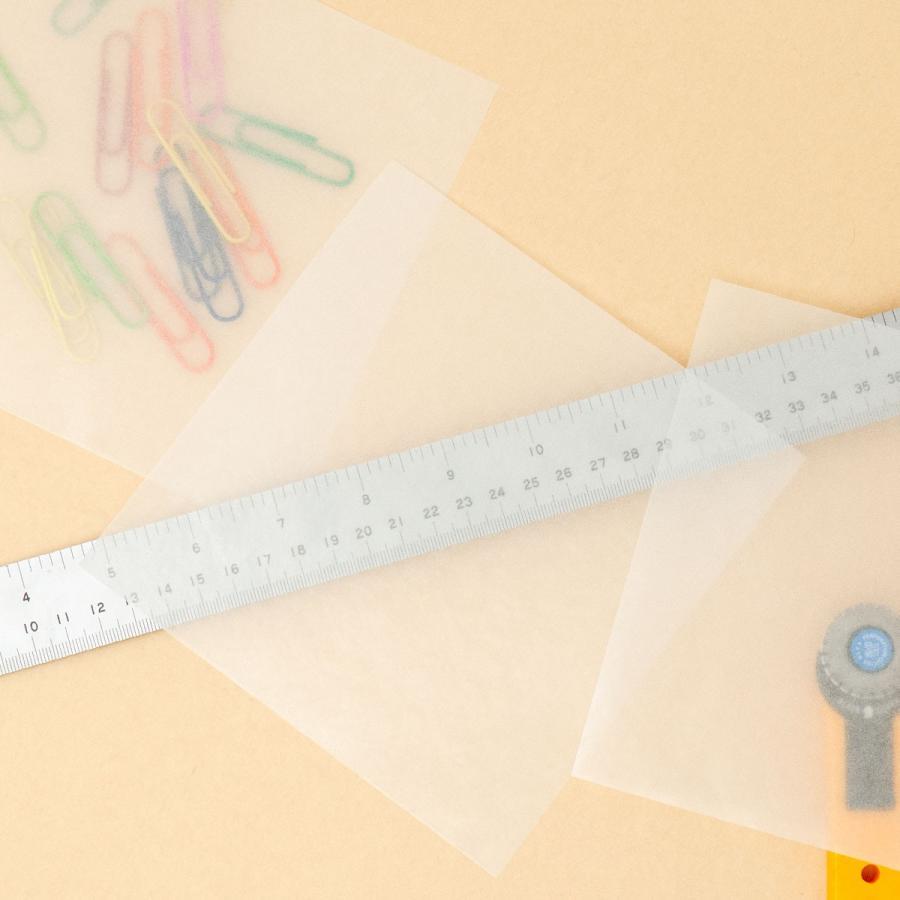 ミニ包装紙 グラシンペーパー白無地 50枚 折り紙サイズ 半透明ペーパークラフト紙|sokana|03