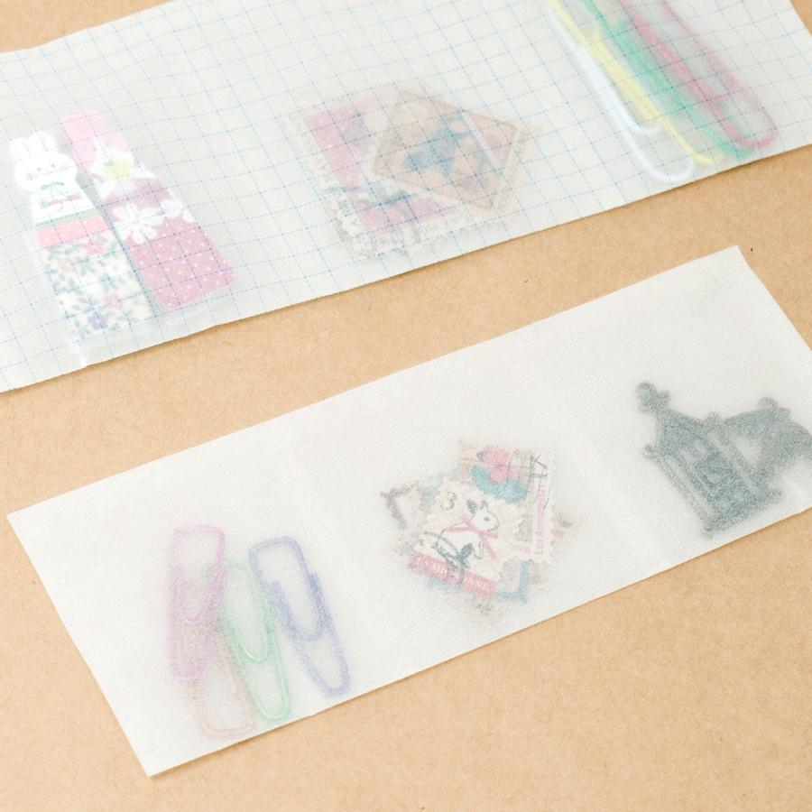ミニ包装紙 グラシンペーパー白無地 50枚 折り紙サイズ 半透明ペーパークラフト紙|sokana|04