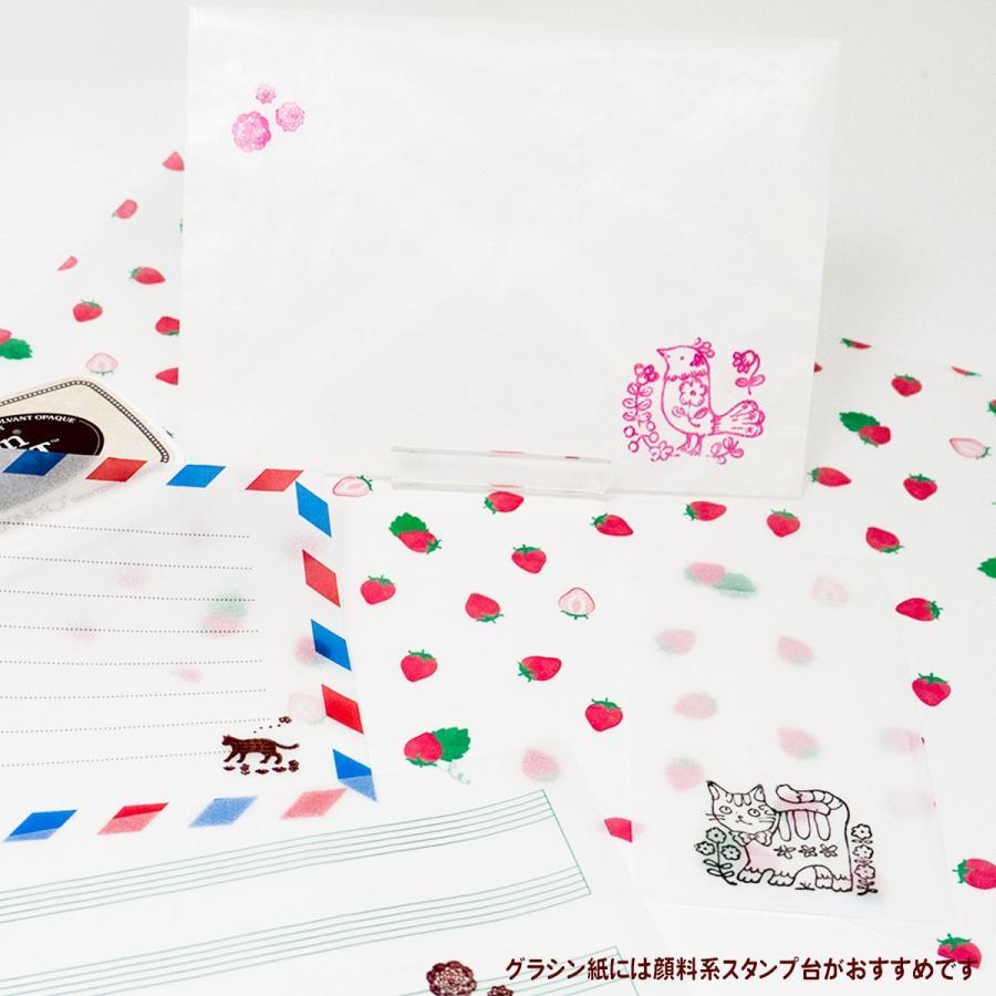 国産グラシン紙封筒【5種セット〈各5枚25枚入〉】白無地 透けるポチ袋 A5 ハガキサイズ 洋形2号 名刺サイズ バッグ 平袋|sokana|02