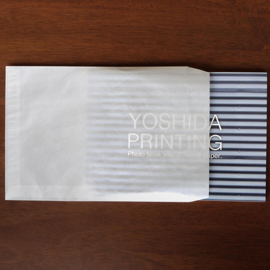 国産グラシン紙封筒【5種セット〈各5枚25枚入〉】白無地 透けるポチ袋 A5 ハガキサイズ 洋形2号 名刺サイズ バッグ 平袋|sokana|03