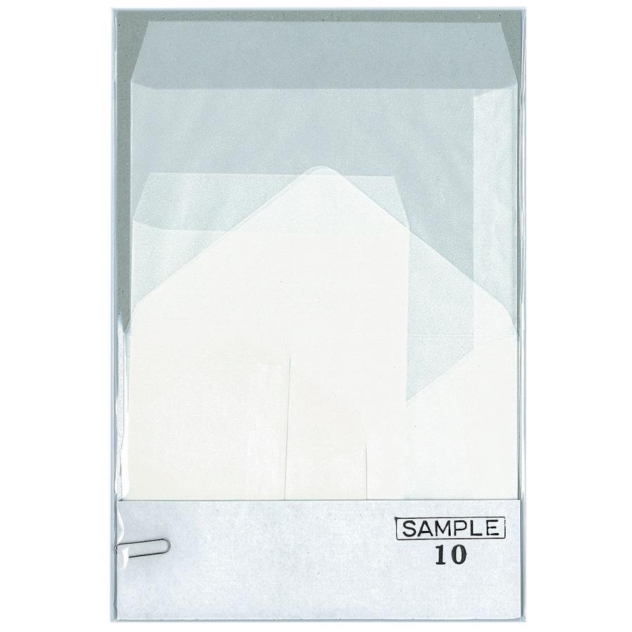 国産グラシン紙封筒サンプルセット 10枚入 各2枚 A5 洋形2号 ハガキサイズ 名刺サイズ ダイヤ貼り バッグ 平袋|sokana