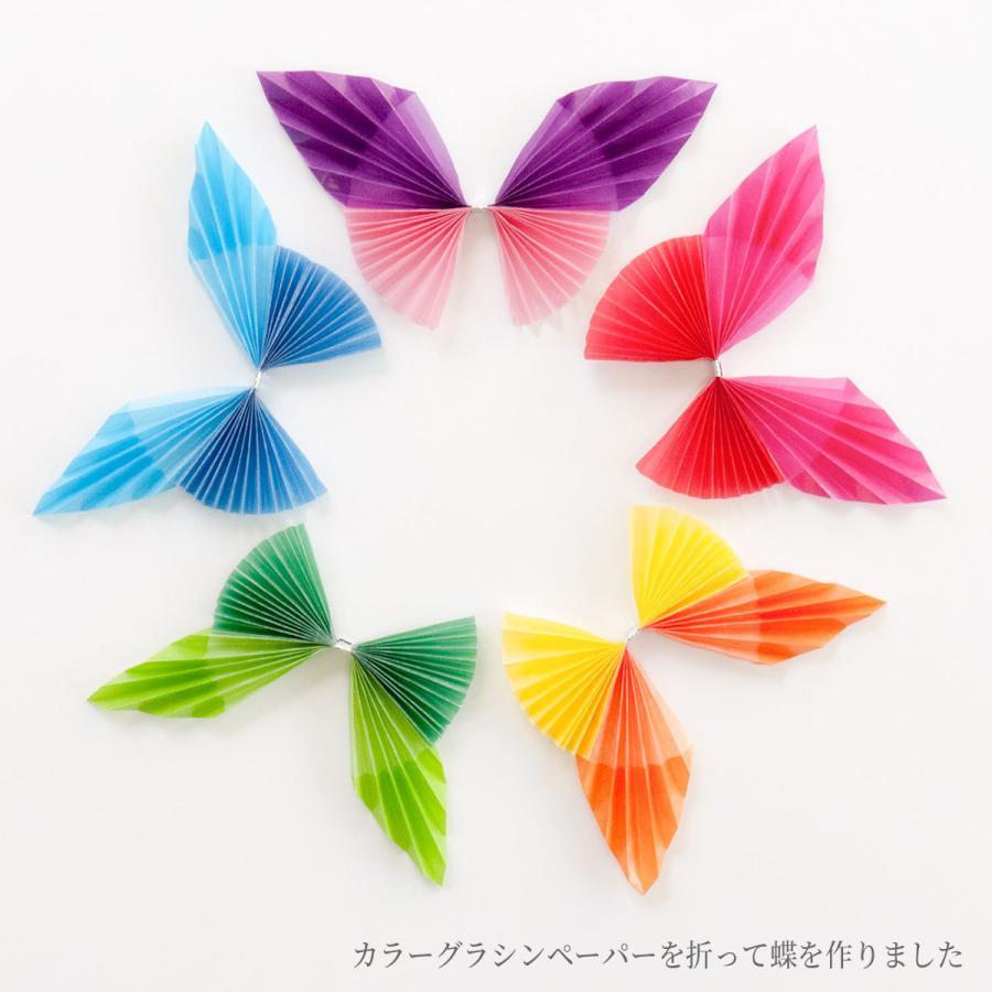 グラシン紙 24色お試しセット 折り紙サイズ 150x150mm 48枚入 24色x各2枚 カラフルな半透明ペーパークラフト紙 ポイント消化 sokana 09