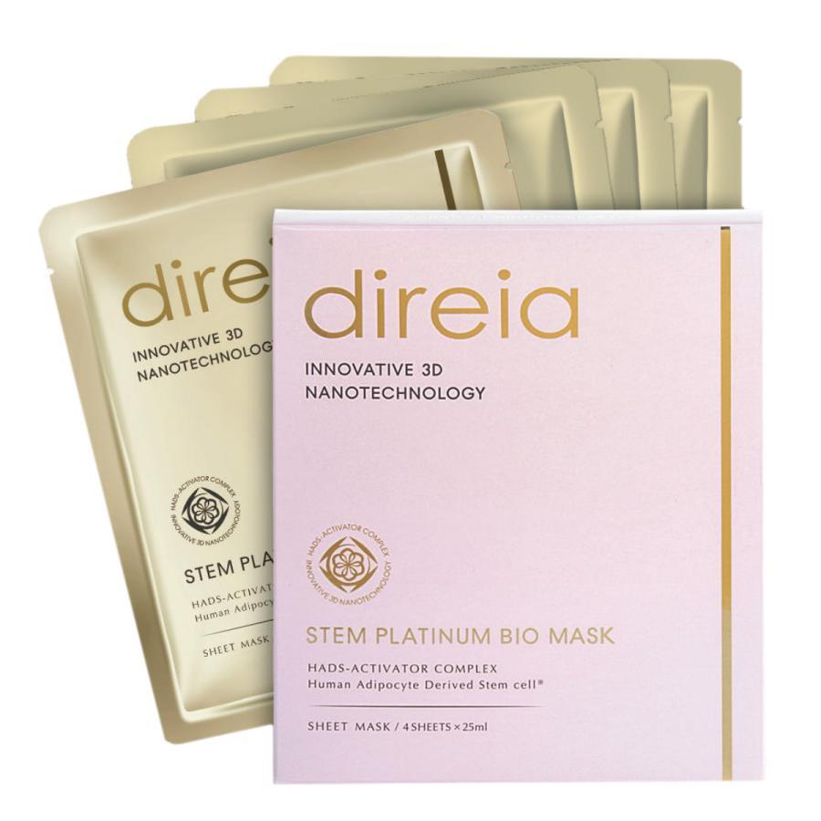 Direia シートマスク 4pcs Stem メーカー直売 Platinum Bio Mask ステム ディレイア バイオ ヒト幹細胞培養液 お得セット フェイスパック プラチナム