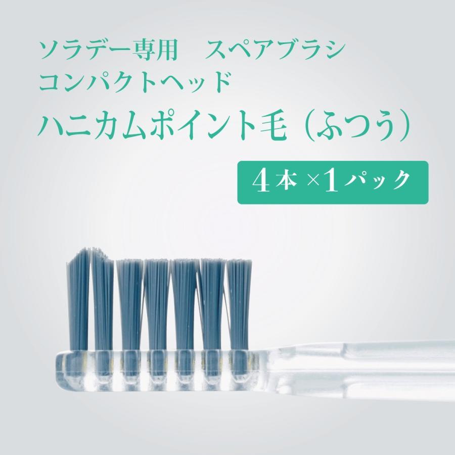 ソラデー専用スペアブラシ コンパクトハニカムポイント毛 ふつう 一部予約 2020モデル