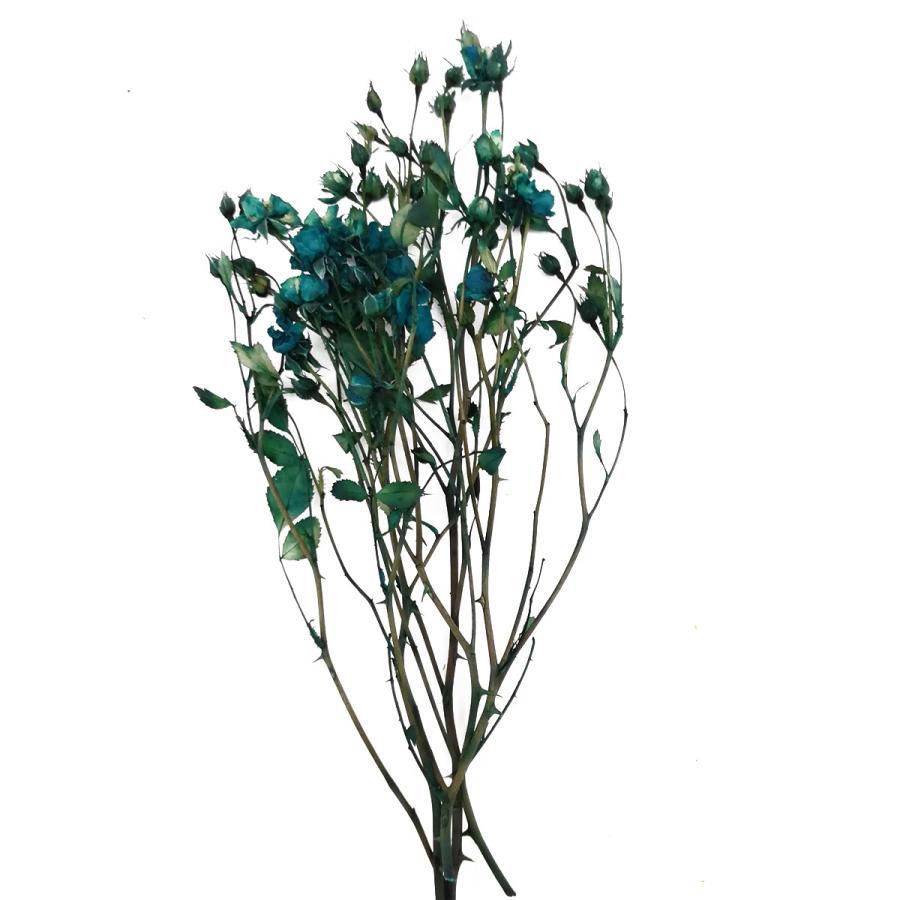 プリザーブドフラワー 花材 日本 リトルローズ 内祝い そらプリ ブリリアントブルー 約10輪