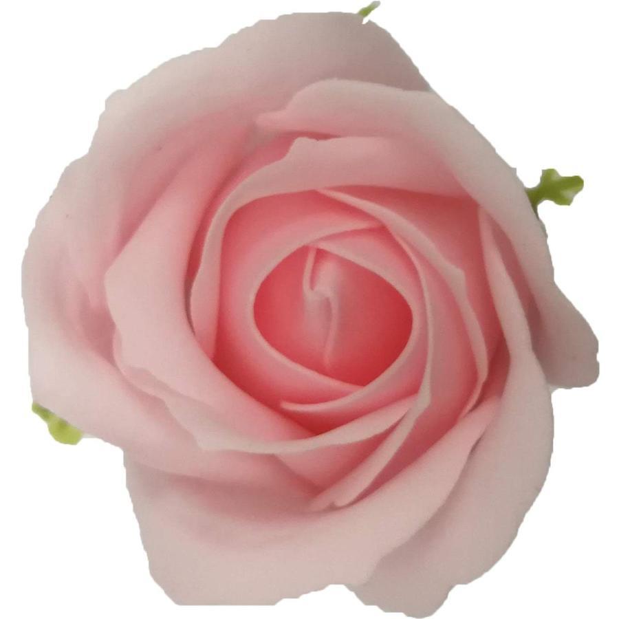 フレグランス ソープフラワー 花材 ローズ 小 1輪 NEW ソープ 全品最安値に挑戦 フラワー 石鹸素材のお花 ライトピンク