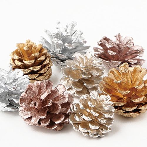 ドライフラワー 木の実アソート プラチナ 花材 販売 東北花材 返品送料無料 約8個