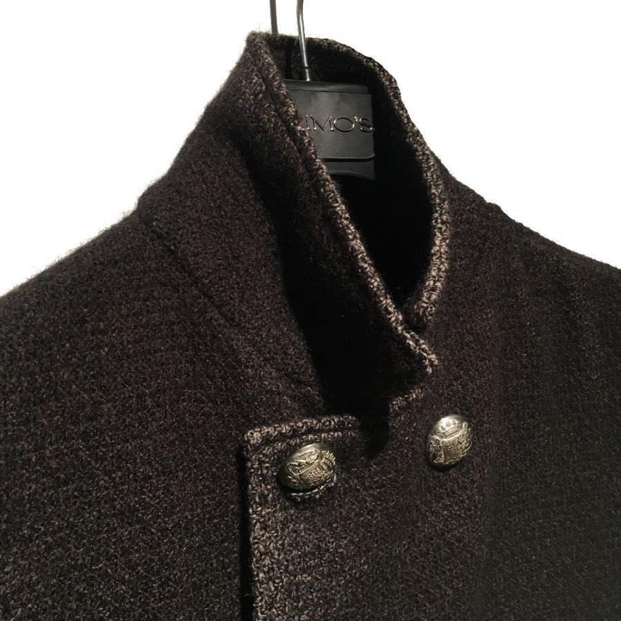 コート メンズ カジュアル ブランド ジモス メタルボタン イタリア ブラウン|solfiglio|04