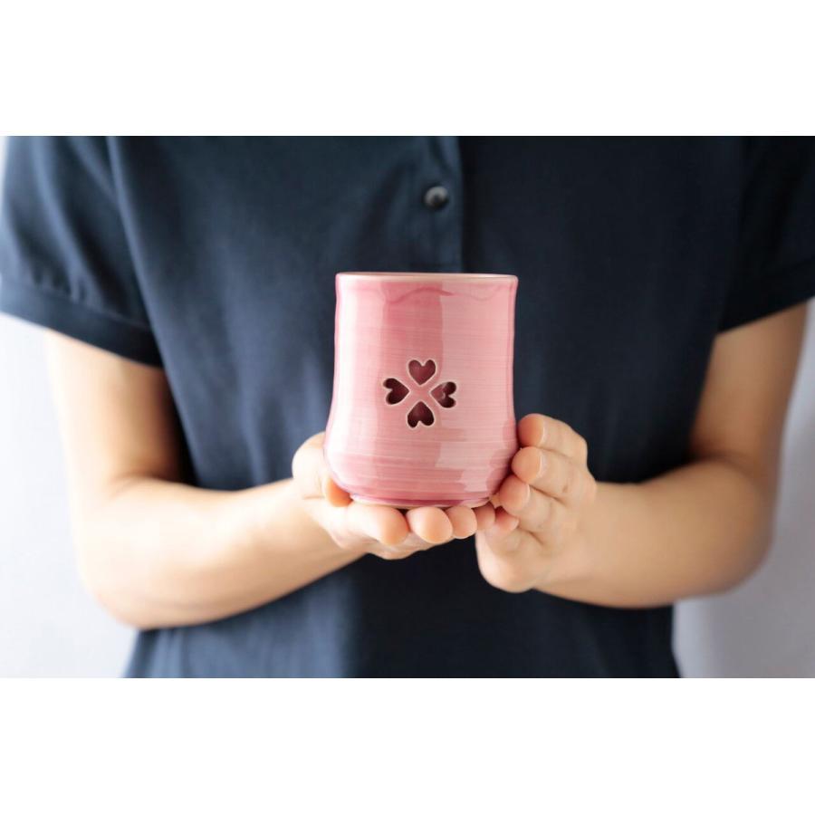 大堀相馬焼 松永窯 SAKURAMUG ペアセット (ピンク&ブラック) 夫婦二重湯呑み 陶器 焼き物 ギフト プレゼントに|soma-yaki|02