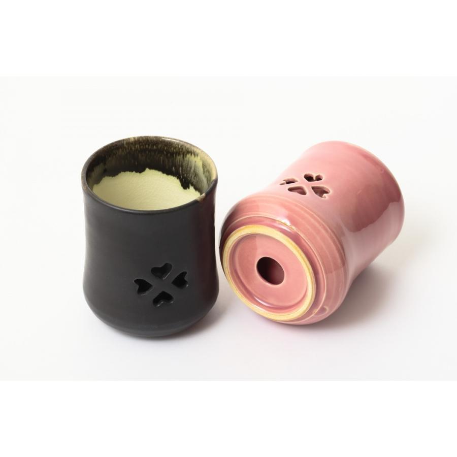 大堀相馬焼 松永窯 SAKURAMUG ペアセット (ピンク&ブラック) 夫婦二重湯呑み 陶器 焼き物 ギフト プレゼントに|soma-yaki|05
