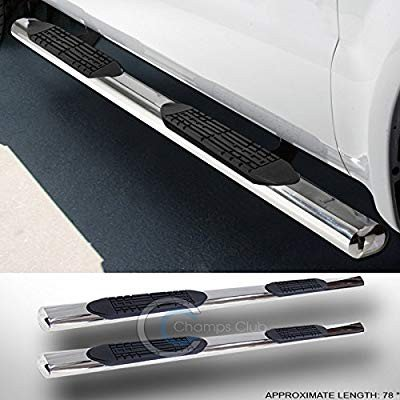 4 SS CHROME SIDE STEP NERF BARS RUNNING BOARDS 99-14 SILVERADO//SIERRA EXTENDED