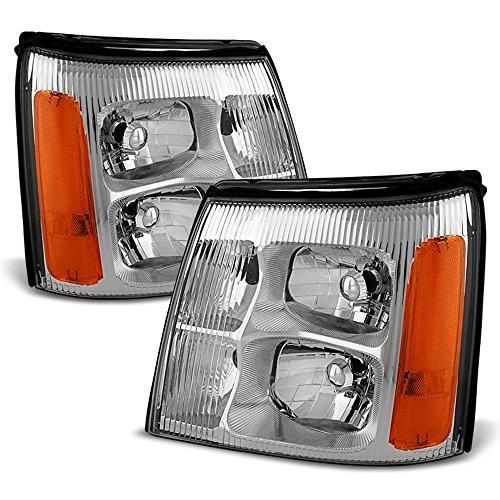 送料無料 ACANII - For 2003-2006 Cadillac Escalade (HID Model Only) Headlights H