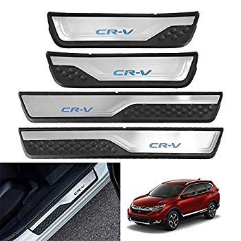 4 x Stainless Steel Door Sill Scuff Plate Protector For HONDA CR-V CRV 2017 2018