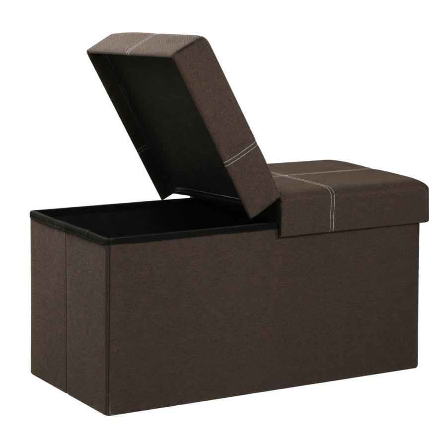 SONGMICS 収納スツール 収納ベンチ 倉庫 折りたためる 品質へこだわり LSF41Z ブラウン 耐荷重300kg 場所取らない 価格