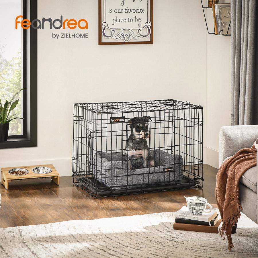 FEANDREA ペットケージ 75×47×54cm 室内外兼用 犬 猫 移動便利 NPPD30H トレイ付き 信託 持ち手付き 開催中 折り畳み式 NPPD30W