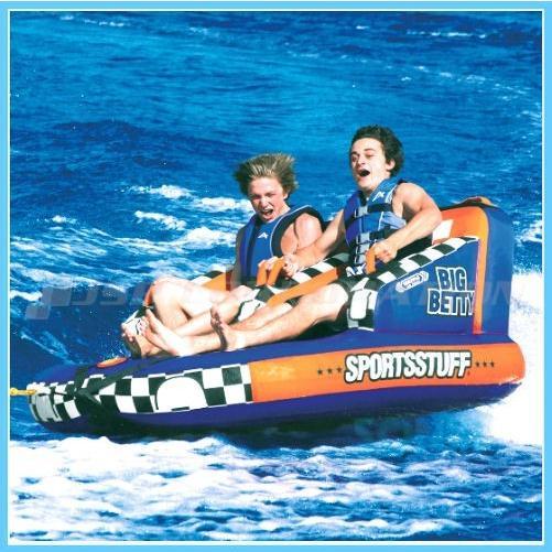 SPORTSSTUFF(スポーツスタッフ) 37030-3A ビッグベティ 3点セット ロープ+ハンドポンプ付 2人乗り BIGBETTY