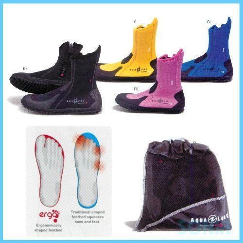 AQUALUNG アクアラング 5990 エルゴブーツ ERGO ダイビング Boots 美品 マリンブーツ 2020モデル