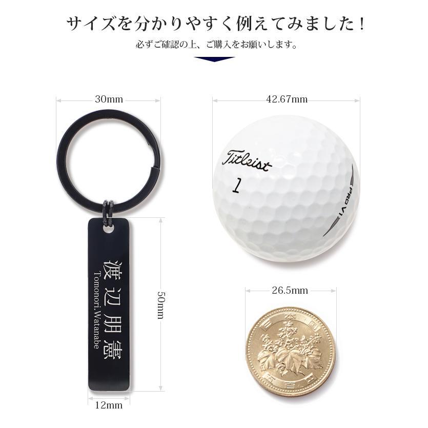 ネームプレート ゴルフバッグ用 ネームタグ キーリング ゴルフ用品 スーツケース用 サブバッグ用 刻印 名入れ サージカルステンレス  刻印無料 特別なプレゼント|soo-soo|06