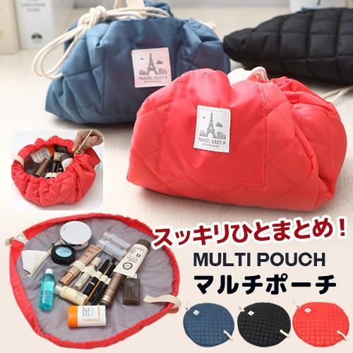 ポーチ 化粧ポーチ コスメポーチ 機能的 巾着ポーチ コンパクト 新作 ビューティーポーチ 小物 使いやすい  バッグインバッグ|soo-soo