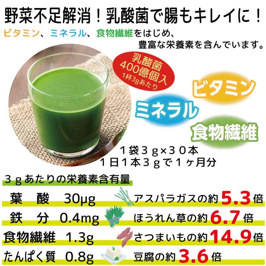 ソーキ 乳酸菌入りニュージーランドの大麦若葉 3g×30包|sooki-ec|05