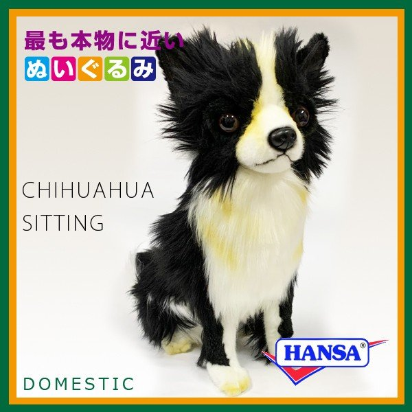 HANSA ハンサ ぬいぐるみ 6504 チワワ CHIHUAHUA SITTING|soprano|02
