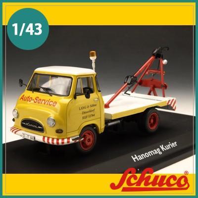 Schuco(シュコー)社ミニカー 03246 ハノマク 事故処理トラック LANG & Sohne イエロー 1/43
