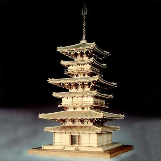木製模型キット <ウッディジョー> 1/75 薬師寺 東塔