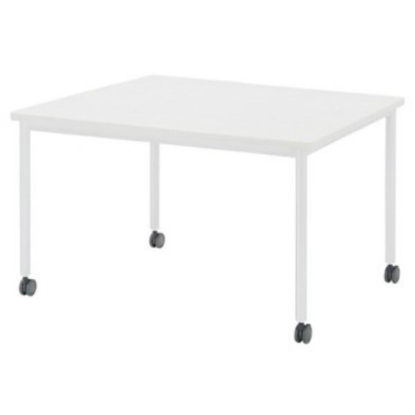 会議テーブル 角型 幅1200×奥行1200×高さ720mm ソフトエッジ キャスタータイプ 4本脚 AWB-1212KC ミーティングテーブル 会議用テーブル NISHIKI ニシキ工業