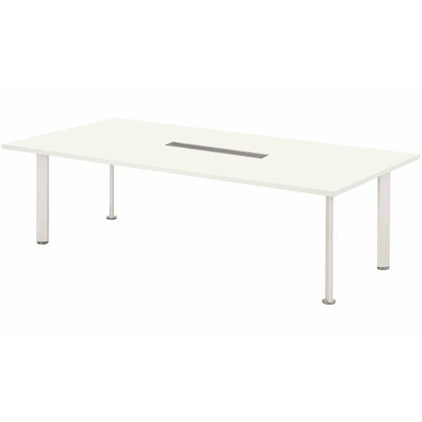 エグゼクティブテーブル 幅2400×奥行1200×高さ700mm NEB-2412W ワイヤリングBOXタイプ 高級会議テーブル 会議テーブル NISHIKI ニシキ工業