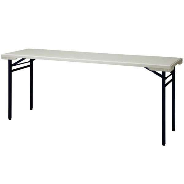 [並行輸入品] 屋外用 折り畳みテーブル 棚無し W1800×D500×H700 ブロー成型 樹脂天板 長机 ニシキ工業 PET-1850 安値 NISHIKI 会議テーブル 折りたたみテーブル