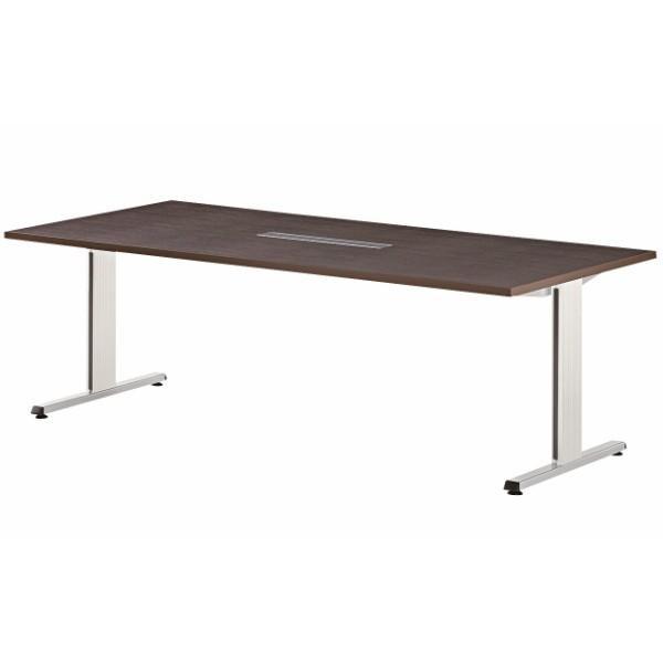 エグゼクティブテーブル 幅2100×奥行1000×高さ720mm 幅2100×奥行1000×高さ720mm PRL-2110W ワイヤリングBOXタイプ 高級会議テーブル 会議テーブル NISHIKI ニシキ工業