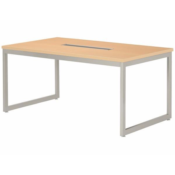 会議テーブル 幅1500×奥行750×高さ720mm 対立脚 QB-1575W ワイヤリングBOXタイプ ミーティングテーブル 会議用テーブル NISHIKI ニシキ工業 ニシキ工業