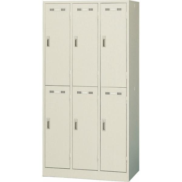 日本製 日本製 スタンダードロッカー 6人用タイプ シリンダー錠 SLK-6 生興 ニューグレー 鍵付き スチールロッカー 法人様限定商品