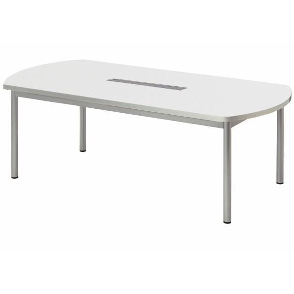 会議テーブル ボート型 幅1800×奥行900×高さ700mm 4本脚 ワイヤリングBOXタイプ WP-1890BW 高級会議テーブル 会議テーブル NISHIKI ニシキ工業