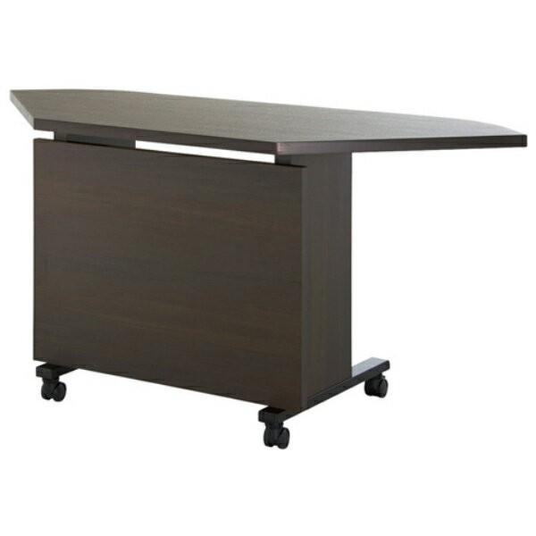エグゼクティブテーブル コーナー 幅1100×奥行600×高さ720mm YWS-6011R 高級会議テーブル ワイヤリング/キャスター付 指紋レス天板 NISHIKI ニシキ工業