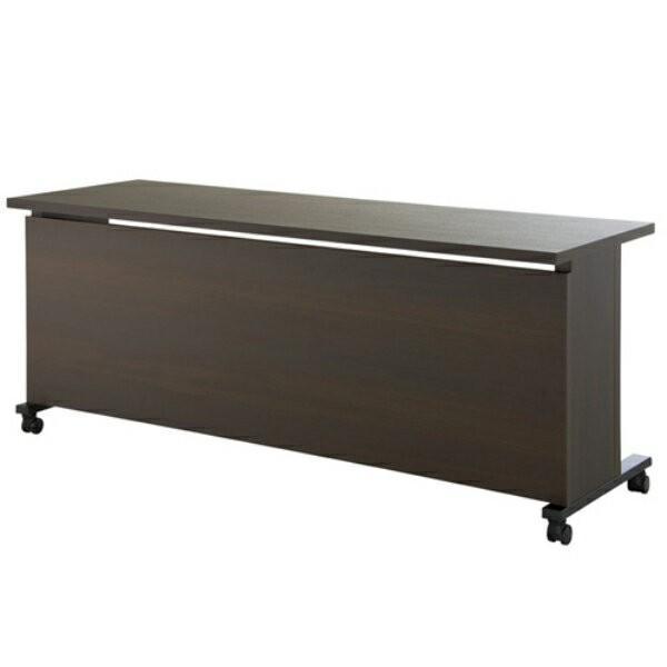 エグゼクティブテーブル 幅1800×奥行600×高さ720mm YWS-6018 YWS-6018 高級会議テーブル ワイヤリング/キャスター付 指紋レス天板 NISHIKI ニシキ工業