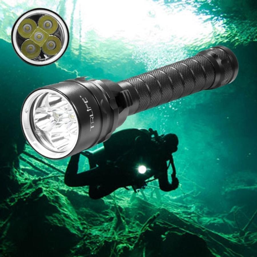 ダイビング ライト トーチ 新着セール 10000LM 強力 潜水 スキューバ 好評受付中 100m 懐中電灯 防水 水中 6500K 5×T6
