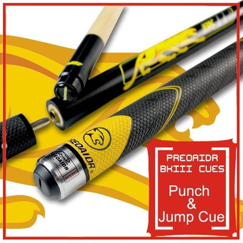 ビリヤード ジャンプ&パンチ キュー PREOAIDR BK3 ティップ 13mm 全長 148.5cm 最新モデル