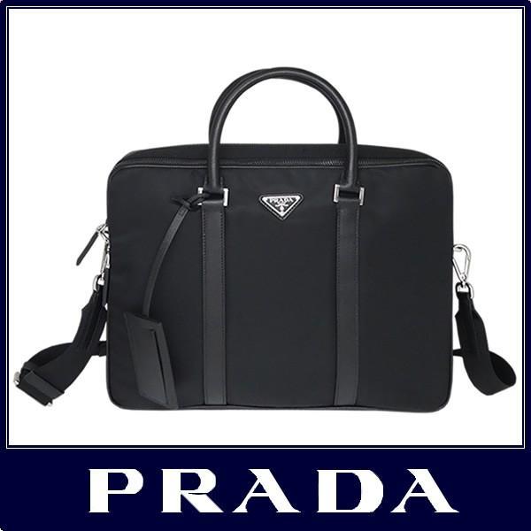 86a0815fb3d9 PRADA プラダ ブリーフケース ビジネス バッグ A4対応 ブラック 2VE002 ...