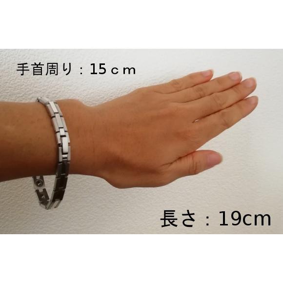 ゲルマニウムブレスレット 健康 シルバー オシャレ メンズ レディース 時計ベルト 日本製 ゲルマニウム16粒付き|soseikan-ya|10