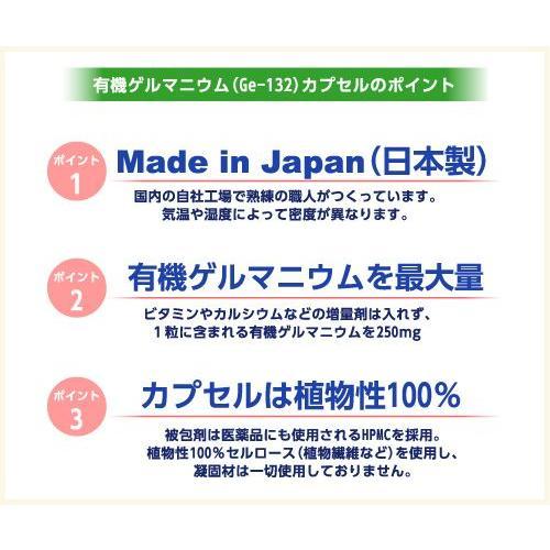 健康食品 飲む有機ゲルマニウム(Ge-132)カプセル 250mg×30粒 日本製 自社生産 サプリメント|soseikan-ya|03